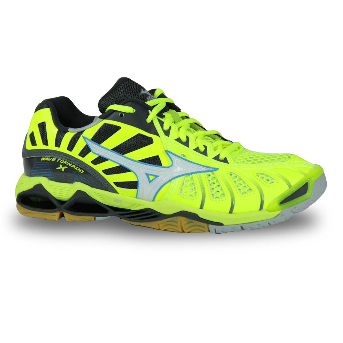 cheap for discount 42850 77c6f Mizuno Wave Tornado X Mens Court Shoes (Safety Yellow-Dark Shadow)
