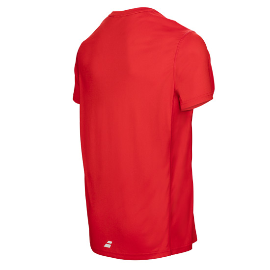 Babolat Core Flag Boys Tee (Fluo Red)