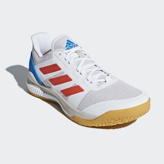 nouveau concept 44541 dc862 adidas Stabil Bounce Court Shoes (White-Orange)   Direct Squash