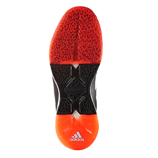reputable site 325f2 4c691 adidas Stabil X Court Shoes (Black-Red) | Direct Squash