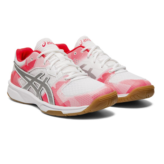 Asics Gel Tactic GS Junior Court Shoe (White-Silver)