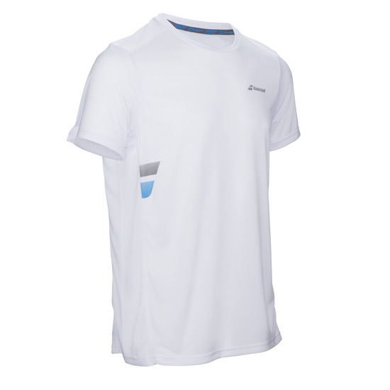 Babolat Core Flag Boys Tee (White)