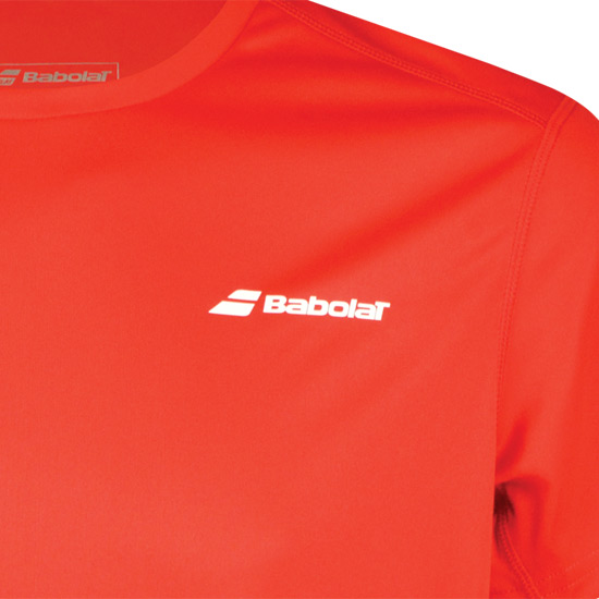 Babolat Core Flag Boys Tee (Fiery Red)