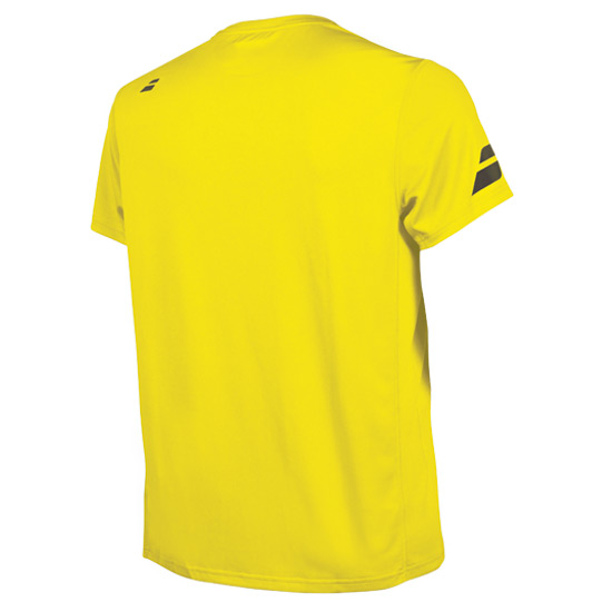 Babolat Core Flag Club Boys Tee (Blazing Yellow)