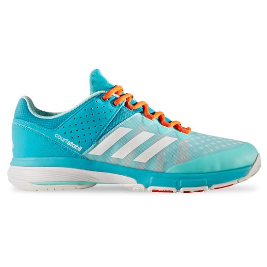 7998846eaa9 adidas Court Stabil Court Shoes (Energy Aqua-White)
