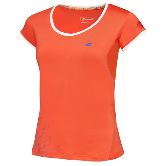 Babolat Performance Girls Cap Sleeve Top (Tomato)