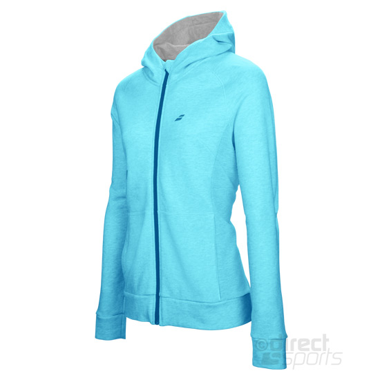 Babolat Core Girls Hooded Sweat Top (Light Blue)