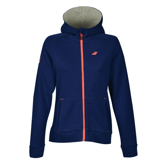 Babolat Core Girls Hooded Sweat Top (Estate Blue)