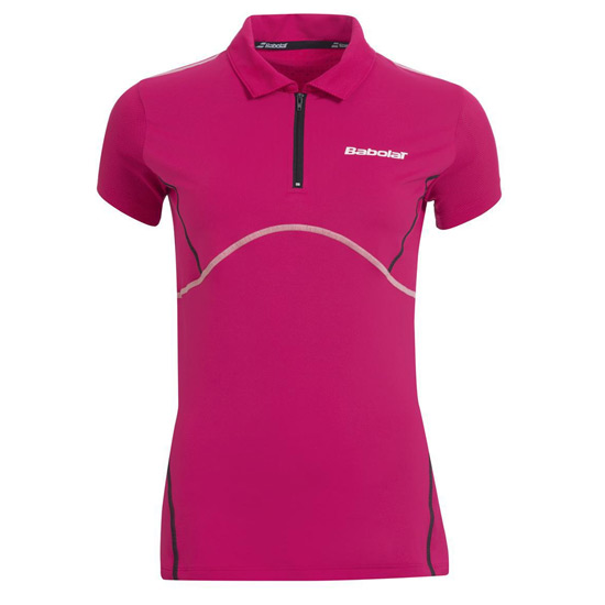 Babolat Match Performance Girls Polo Shirt (Cherry Red)