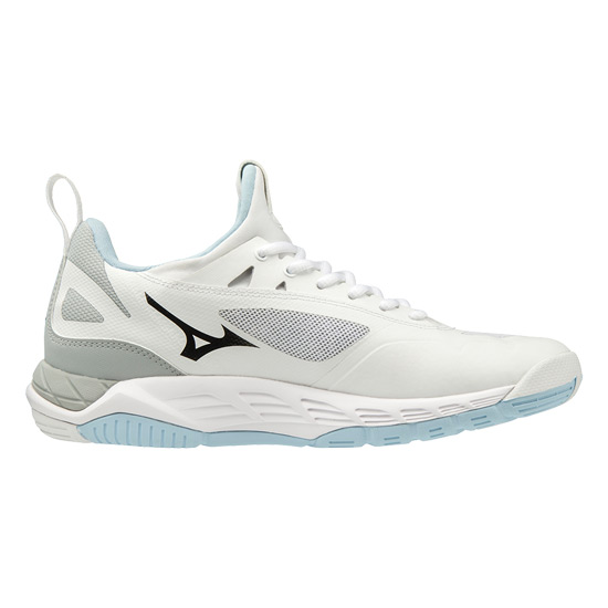 Mizuno Wave Luminous Womens Court Shoes (White-Black-Black-Clearwater)