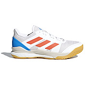 081594b3353 adidas Stabil Bounce Court Shoes (White-Orange)