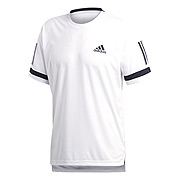 f10042b18ef Adidas Club 3 Stripe Mens Tee (White-Black)