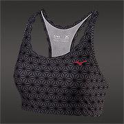 f17f469d9ffe6 Mizuno DryLite Heritage Womens Bra (Black-Charcoal)