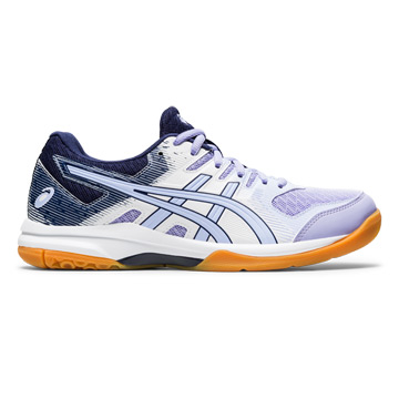 Asics Gel Rocket 9 Womens Court Shoes (White-Vapor)