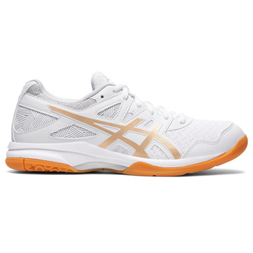 Asics Gel Task Womens Court Shoes (White-Champagne)