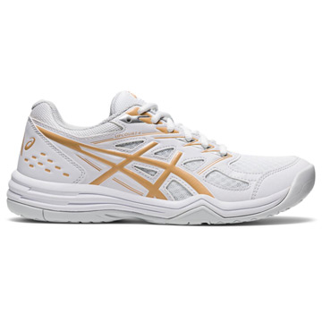 Asics Gel Upcourt 4 Womens Court Shoes (White-Champagne)