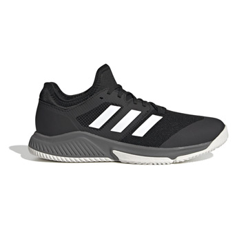 Adidas Court Team Bounce Indoor Court Shoes (Black-White-Grey Four)